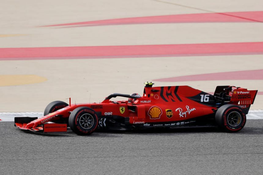 Ferrari new boy Charles Leclerc (above) scorched to a best lap in 1min 29.569sec to outpace teammate Sebastian Vettel by 0.169 of a second.
