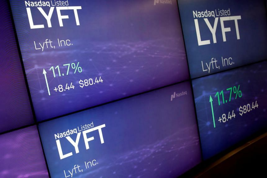Lyft's shares rose 8.7 per cent in its first day of trading after opening at US$87.24 (S$118.24), far above the public offering price of US$72.