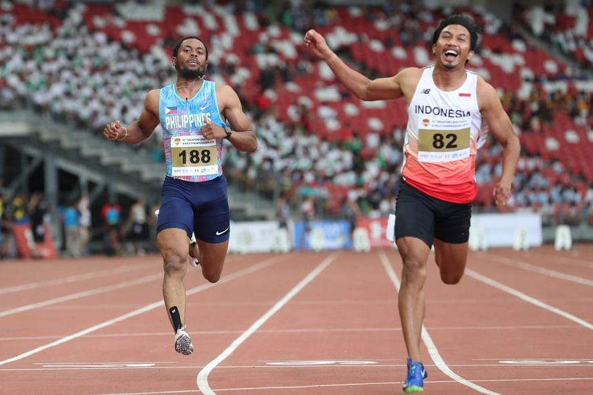 The Philippines' Eric Cray finished eighth in the 100m at the Singapore Open but knows there is plenty of time to get into shape for the SEA Games at the year-end.