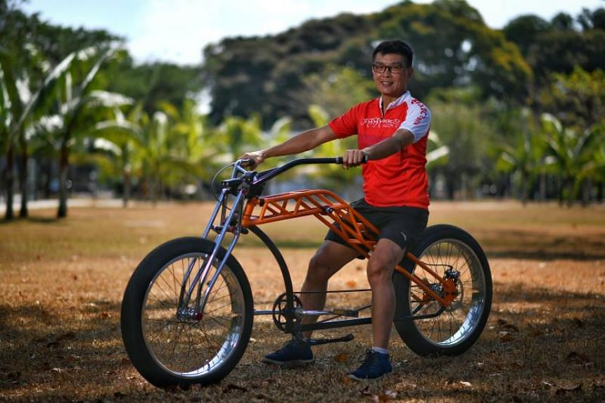 Lewis Foo's unusually long bicycle cost him about $7,000 to build.