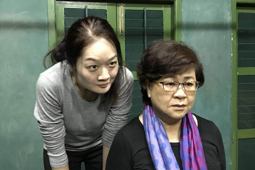 Lina Yu and Liow Shi Suan (with glasses) in Always On My Mind, a play in which a daughter deals with her mother's approaching death.