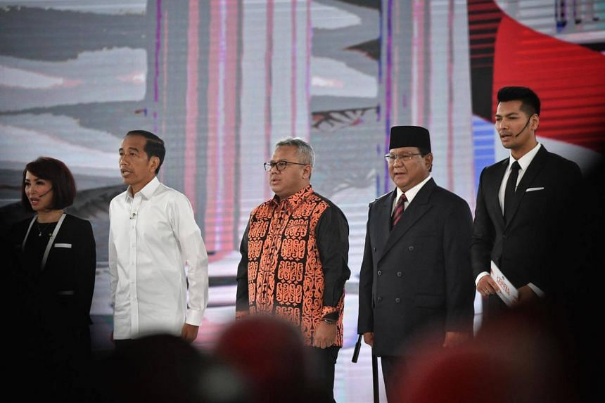 Mr Joko (second from left) pitched governmental reforms as a key plank of his presidency, while Mr Prabowo (second from right) grappled with the President over the armed forces and its budget.