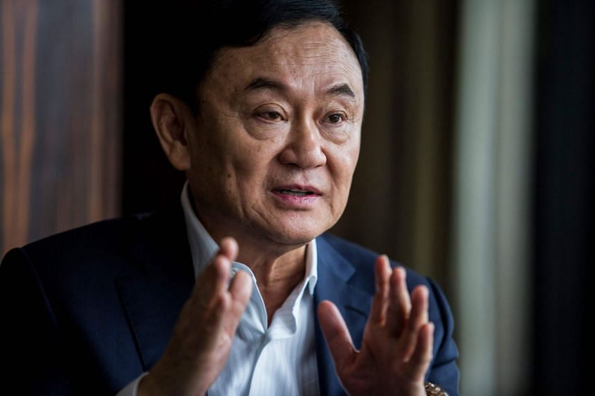 Thaksin Shinawatra is interviewed by AFP in Hong Kong on March 25, 2019.