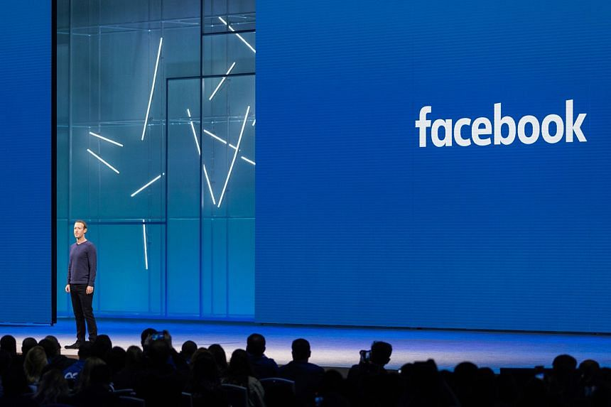 Mr Mark Zuckerberg at Facebook's annual developer conference F8 in San Jose, California, last year. The writer says Mr Zuckerberg seems to have had an overly optimistic view of human behaviour that prevented him from foreseeing some of the negative c
