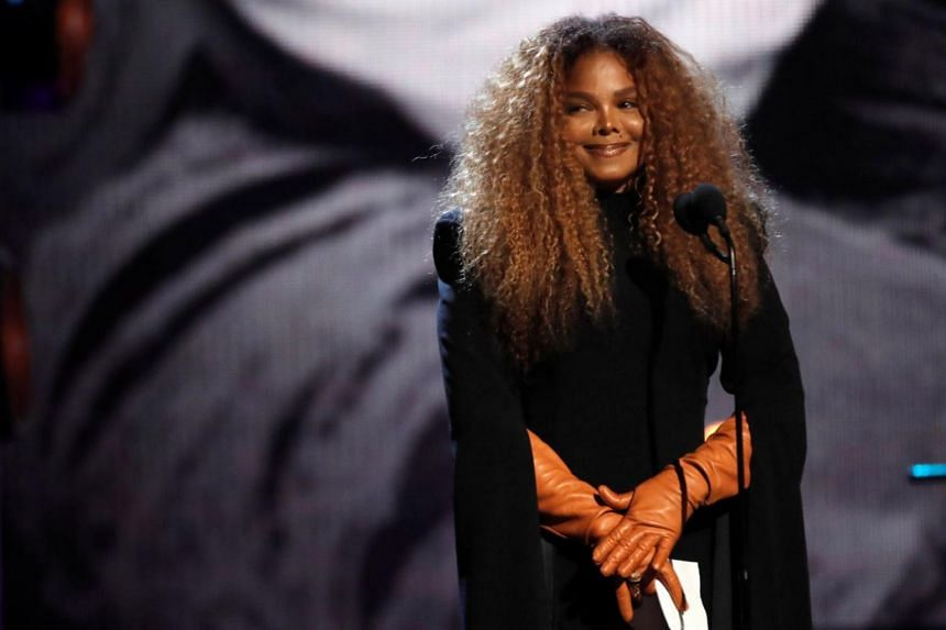Inductee Janet Jackson speaks during the 2019 Rock and Roll Hall of Fame induction ceremony in Brooklyn, New York, US, on March 29, 2019.
