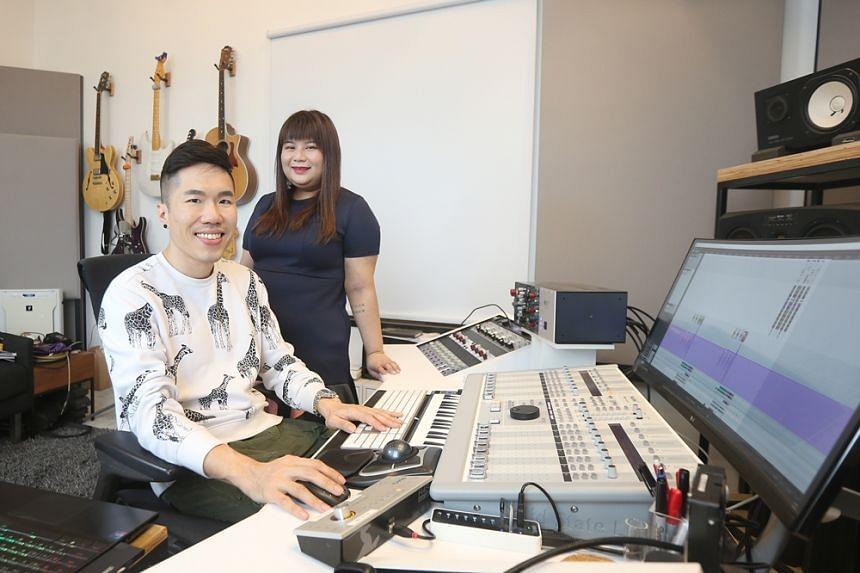 In the finale of Sing Our Song, Tat Tong (left), best known for electronic dance music, collaborates with Ariane Goh.