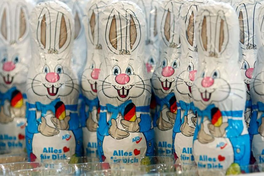 Swiss daily Le Matin reported that vegans wanted to ban chocolate bunnies at Easter, as part of an April Fools' Day prank.