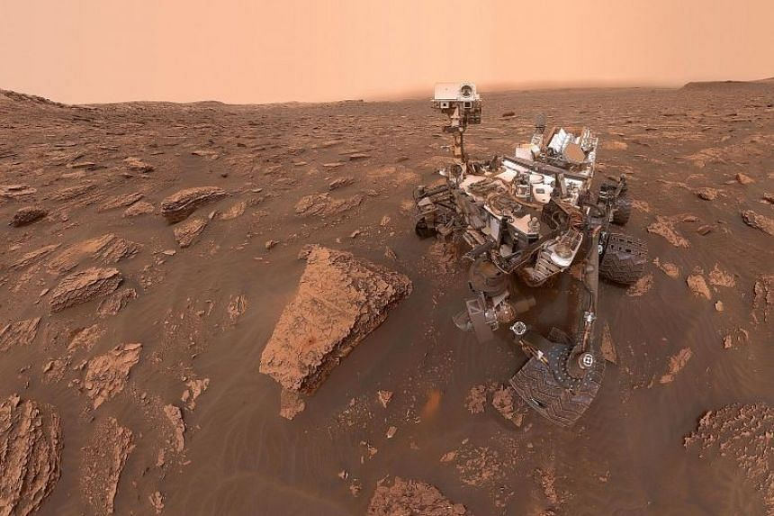 A self-portrait taken by Nasa's Curiosity rover at the Gale crater in June, 2018. The presence of methane in the vicinity was confirmed by readings taken by Nasa's Curiosity rover.