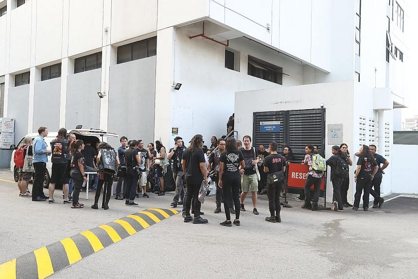 Despite the cancellation, the band turned up at the concert venue in Upper Paya Lebar. The Government had cancelled the permit for the concert after getting reports that Christians were offended by the band.