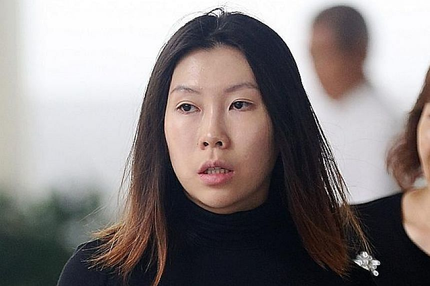 Ng Wei Ling was sentenced to one year and eight months in jail yesterday for cheating her clients at United Overseas Bank of more than $200,000. She used the money to pay for things such as her transportation and dining expenses.