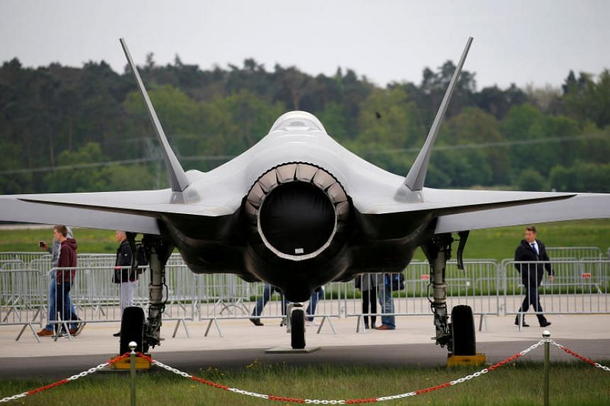 A Lockheed Martin F-35 aircraft at the ILA Air Show in Berlin on April 25, 2018.