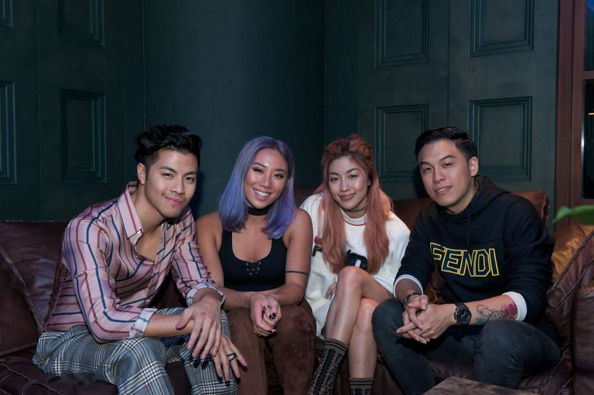 In the Entertainment & Sports category, The Sam Willows, comprising siblings Benjamin Kheng (left) and Narelle Kheng (second right) as well as their friends Jonathan Chua and Sandra Riley Tang, were one of the honourees from Singapore.