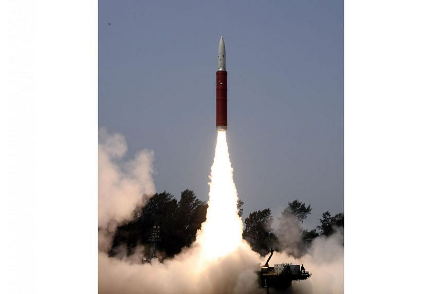 A Ballistic Missile Defence Interceptor missile by DRDO is launched during an Anti-Satellite missile test Mission Shakti from the A P J Abdul Kalam Island in Odisha, India, on March 27, 2019.