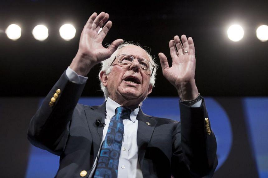 Bernie Sanders speaks at the We The People Summit in Washington, April 1, 2019.