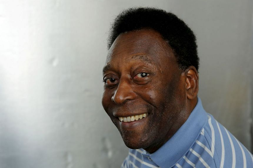 Pele poses for a portrait during an interview in New York.