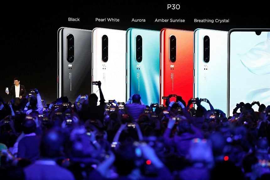 Huawei's new P30 smartphones were unveiled in France last month.