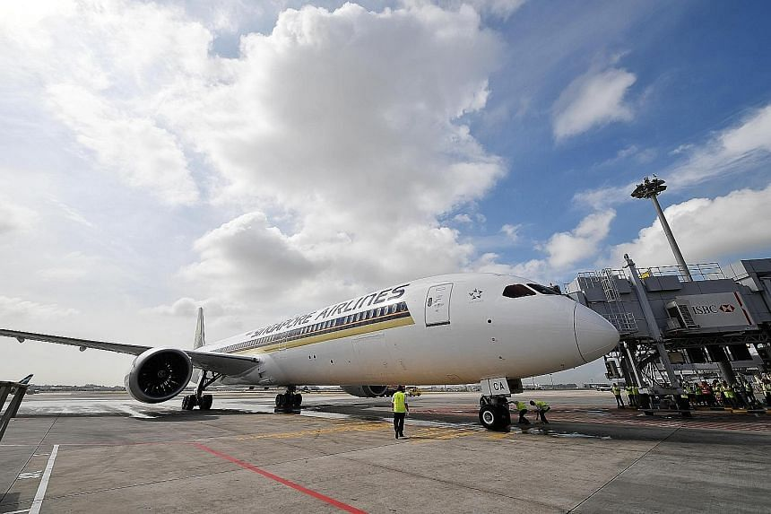 Singapore Airlines was the first carrier to operate the Boeing 787-10, the newest and longest Dreamliner, last year. Preliminary checks have found premature blade cracking on some of the aircraft's engines made by Rolls-Royce.