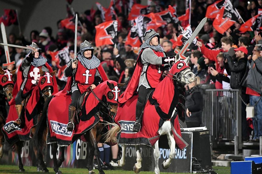 The club said it will immediately drop pre-match entertainment featuring sword-brandishing mounted men, dressed as crusading knights in chainmail and tunics adorned with crosses.