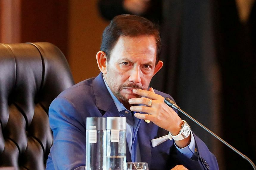 """Brunei's Sultan Hassanal Bolkiah called for """"stronger"""" Islamic teachings in the country on April 3."""