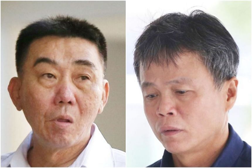 Lim Hong Liang (left) twice ordered his mistress' lover to be attacked. He was convicted after a 10-day trial. Ong Hock Chye, the middleman linked to the attack, was also found guilty in court.