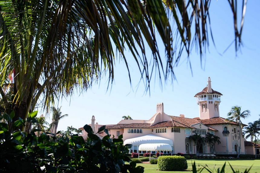 US President Donald Trump's Mar-a-Lago resort in Palm Beach, Florida.