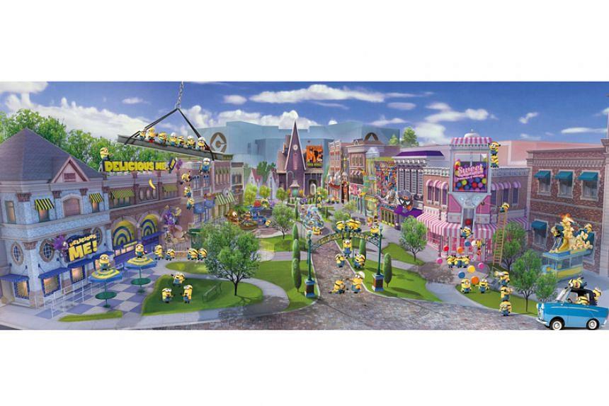 An artist's impression of Minion Park at Universal Studios Singapore.
