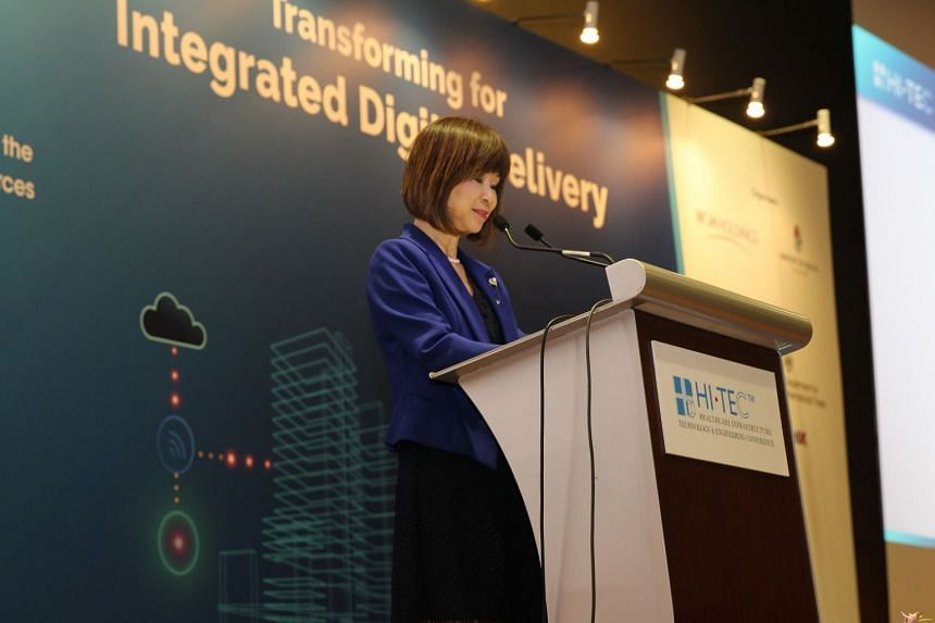 Dr Amy Khor, Senior Minister of State for Health and the Environment and Water Resources, delivering her opening speech at HI.TEC 2019.