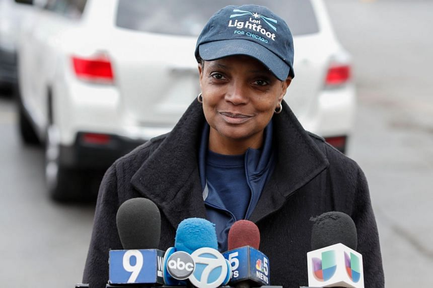 Lori Lightfoot, a former federal prosecutor and practicing lawyer who has never before held elected office, was elected the midwestern city's mayor in a lopsided victory.