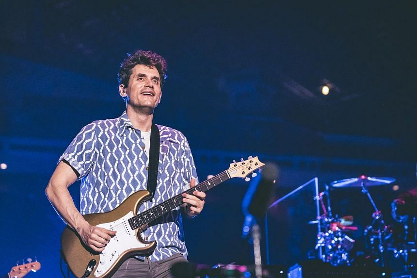 John Mayer played to a crowd of more than 10,000 on Monday at his debut Singapore concert.