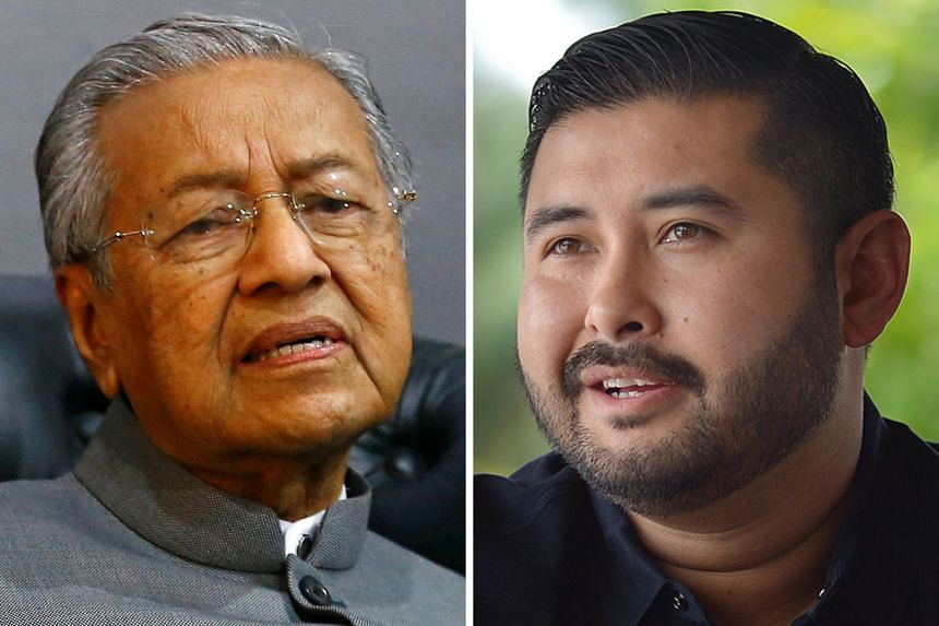 Johor Crown Prince Tunku Ismail Sultan Ibrahim (right) had posted a Facebook link accusing Prime Minister Mahathir Mohamad's government of bulldozing over Johor's jurisdiction.
