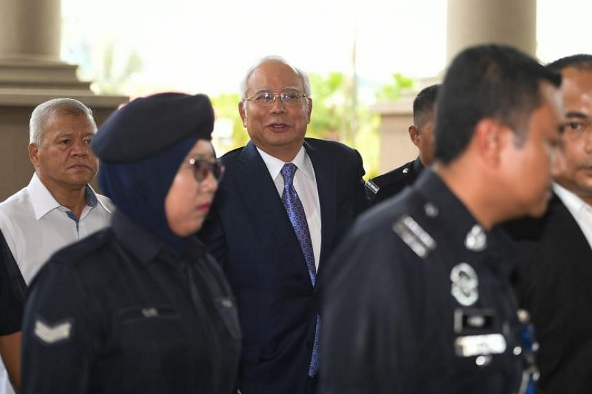 Malaysia's disgraced former leader Najib Razak goes on trial over the scandal on April 3, 2019.