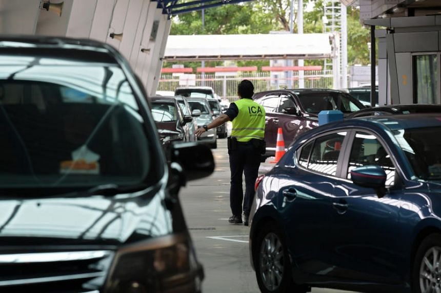 The Immigration and Checkpoints Authority of Singapore said the clearance time for incoming vehicles at the Tuas and Woodlands checkpoints was not affected as a result of turning away foreign vehicles with outstanding fines.
