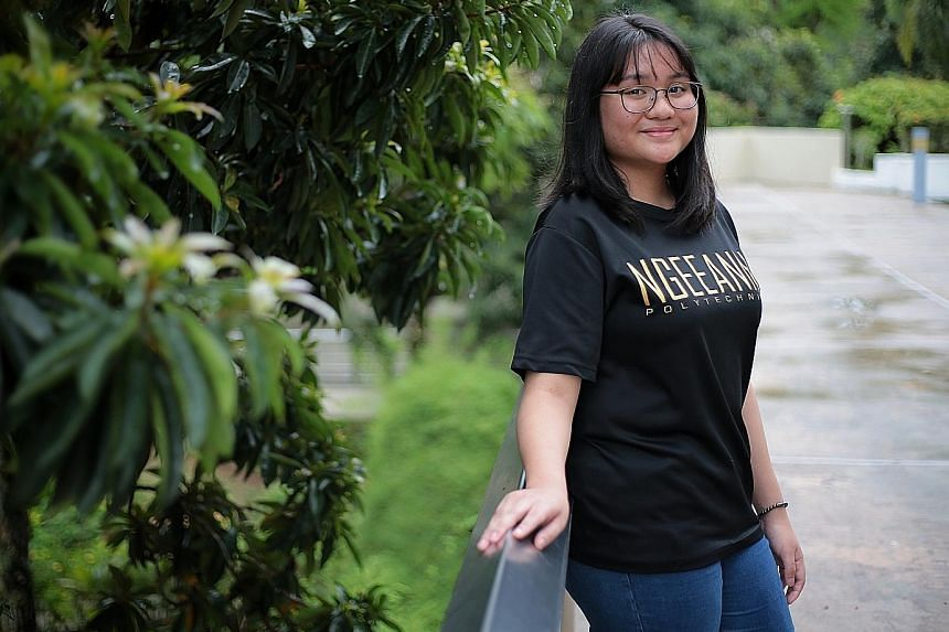 Ngee Ann Polytechnic student Abigail Du hopes the Future City Programme will help her develop skills to solve problems at work. ST PHOTO: JASON QUAH