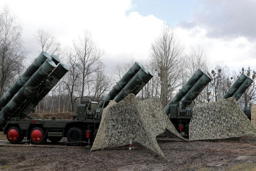 "The Russian S-400 ""Triumph"" surface-to-air missile system, which Turkey says it needs to defend itself."