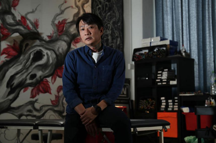 Tattoo artist Donald Kwek specialises in customised oriental designs and often tattoos large back designs that can take up to five hours to complete.