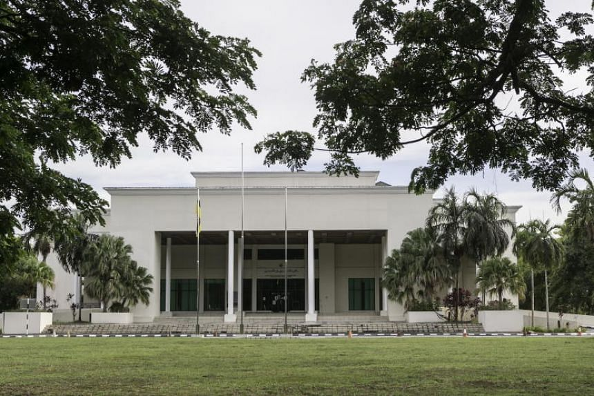The Brunei Supreme court and syariah courts building in Bandar Seri Begawan. Brunei implemented tough new Islamic laws on April 3, 2019, including death by stoning for sex between men, and adultery.