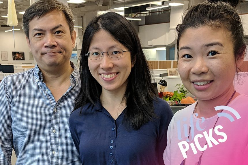 (From left) ST journalists John Lui and Toh Wen Li share with Life Picks podcast host Melissa Sim the best lifestyle tips this week.