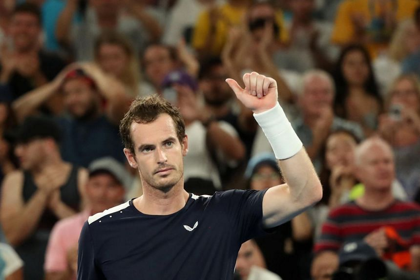 Britain's Andy Murray at the Australian Open on Jan 14, 2019.