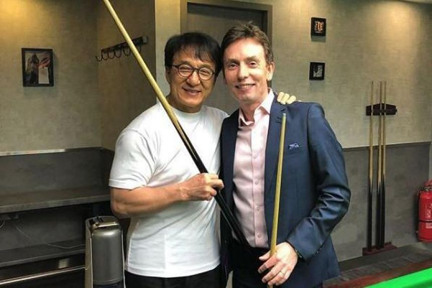 Former world snooker champion Ken Doherty took on Jackie Chan in a few frames in a friendly match in Hong Kong.