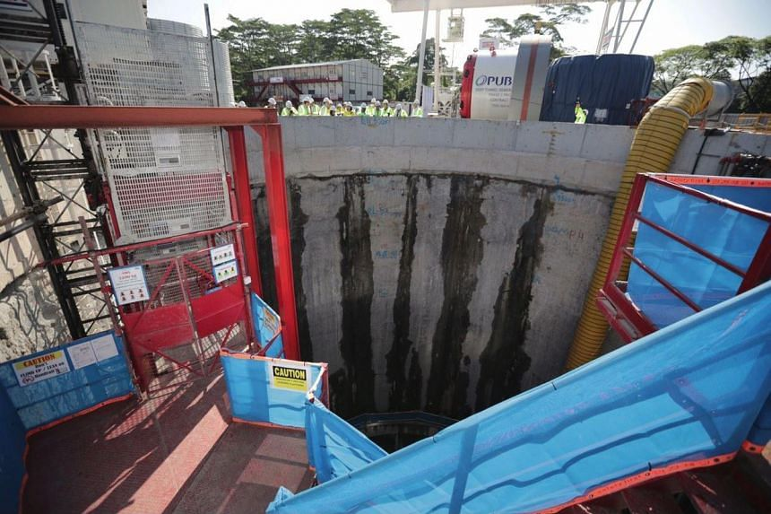A PUB site at Jalan Bahar, where a tunnel boring machine was launched as part of the second phase of the Deep Tunnel Sewerage System project on April 4.