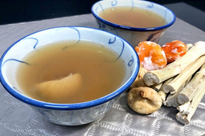 Sugar Cane Herbal Tea.