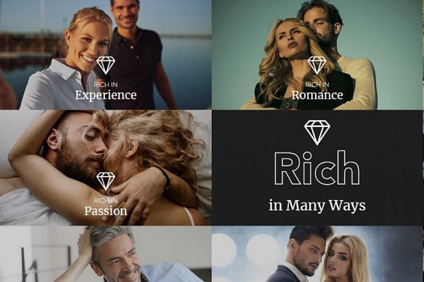 """A screenshot of images from the """"sugar daddy"""" site."""