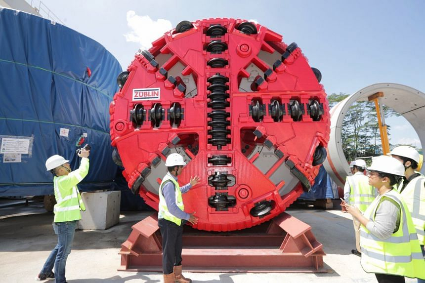 The tunnel boring machine, which will burrow through the ground to create tunnels 3.5m in diameter below the surface.
