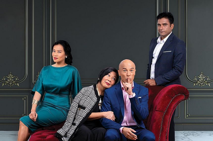 The cast of The Truth (from left) Cynthia Lee MacQuarrie, Neo Swee Lin, Lim Yu-Beng and Vivek Gomber.