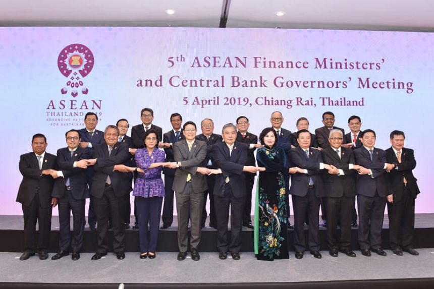 Asean finance ministers and central bank governors at the Asean Finance Ministers and Central Bank Governors Meeting in Chiang Rai, Thailand, on April 5, 2019.