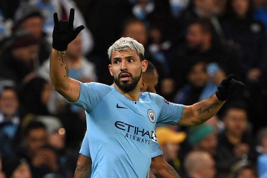 Aguero (above) is the Premier League's top scorer with 19 goals.