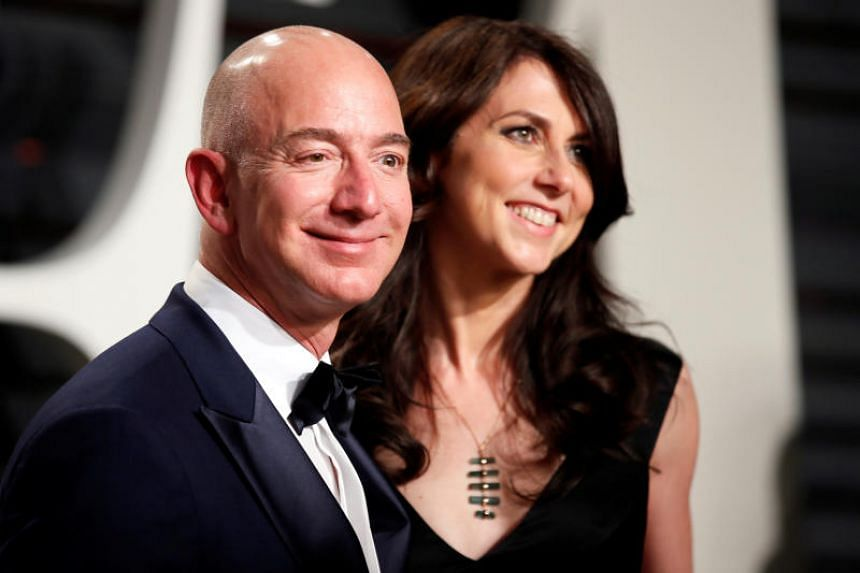 Amazon founder Jeff Bezos and his wife, MacKenzie, finalised the biggest divorce settlement in history April 4, 2019, leaving him with 75 per cent of their stock in the tech giant and giving her nearly US$36 billion (S$48 billion) in shares.