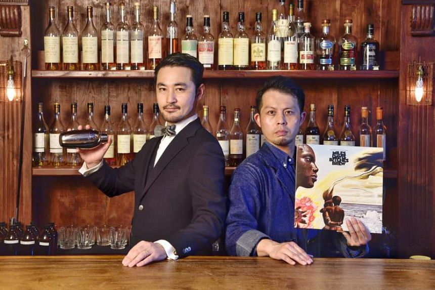Mr Daiki Kanetaka, founder and head bartender at D.Bespoke (left) and Mr Shinji lwamitsu, head bartender at RPM by D.Bespoke.