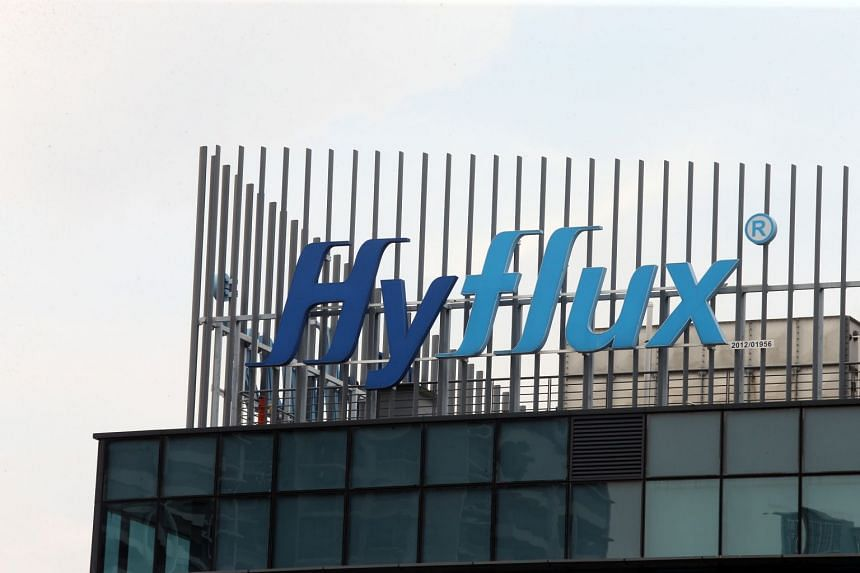 The company logo on the Hyflux Building.