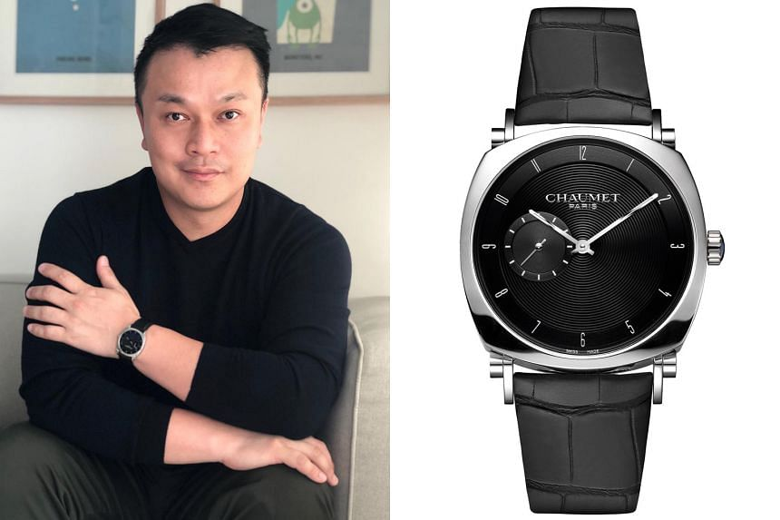 Mr Albert Pang likes the Chaumet Dandy Slim Automatic for its versatility.